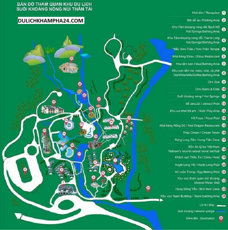 Bản đồ tham quan du lịch Núi Thần Tài